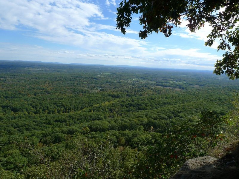 View from the belay ledge of Easy O, makes waiting for your climber a joy.