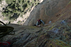 Rock Climbing Photo: Mick Shein coming up pitch 2, the amazing 11a corn...