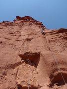 Rock Climbing Photo: Kent loving the mud.