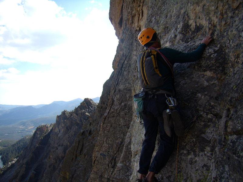 Rock Climbing Photo: Hallet Peak, RMNP, October 3rd 2010.  Culp - Bossi...