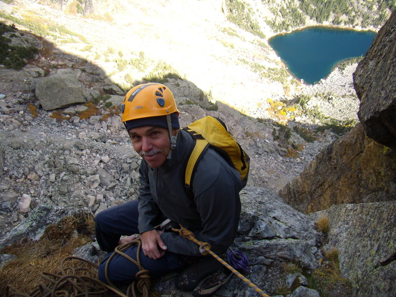 Hallet Peak, RMNP, October 3rd 2010.  Culp - Bossier.  With Brad on top of the route.