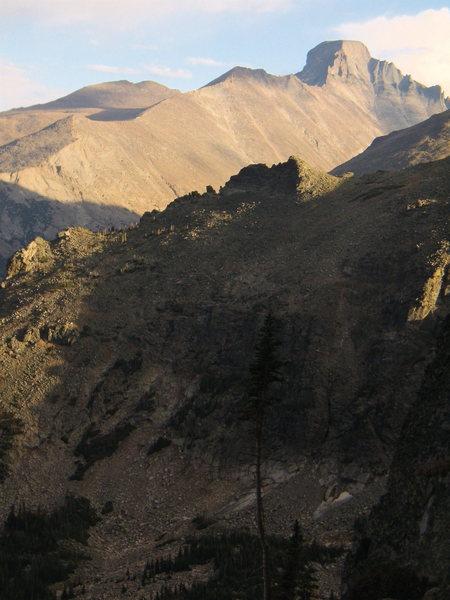 Rock Climbing Photo: View of Longs Peak from Hallet Peak, RMNP, October...