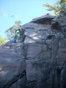Rock Climbing Photo: Eyeing up the second crux.