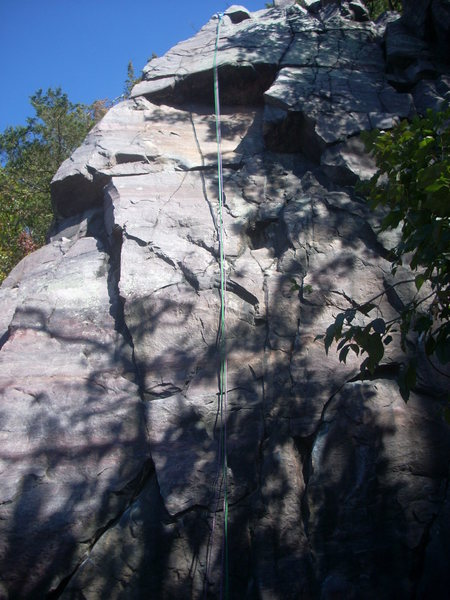 Rock Climbing Photo: Follow the rope line for Cop ripper.