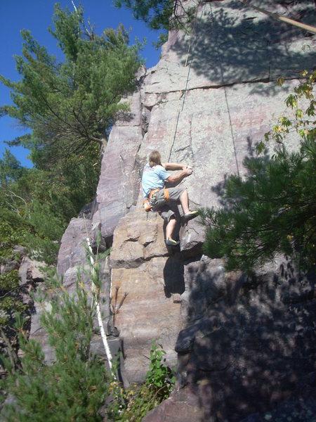 Rock Climbing Photo: Vinny mid-crux.