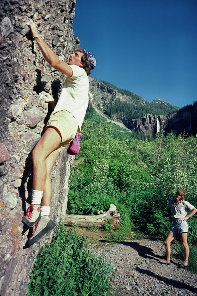 The Weller brothers at the Mine Boulders in the mid '80s.