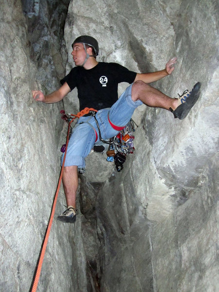 Rock Climbing Photo: Complete awkwardness