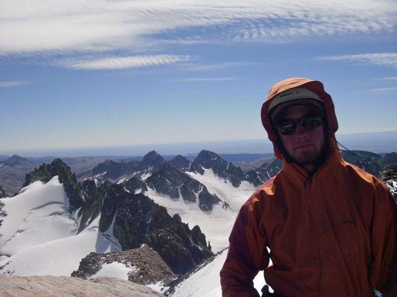 Rock Climbing Photo: Summit of Mt.Gannet WY