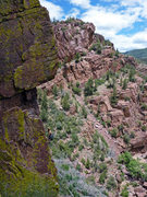 Rock Climbing Photo: David Bloom about half-way up this classic Iso are...