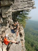 Rock Climbing Photo: Ben, Hans and Mark Arrow at the belay for the Dang...