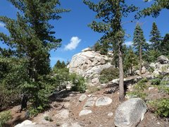 Rock Climbing Photo: School Rock (aka Eagle Eye Rock) from the lower ap...