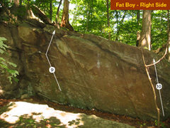 Rock Climbing Photo: Right side of the Fatboy wall.