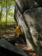 Rock Climbing Photo: Mike R. on the start of Anne Loves Crimps.