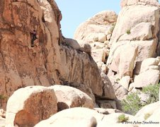Rock Climbing Photo: In action on Laeger Domain, 5.10