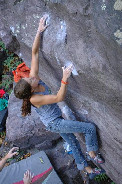 Rock Climbing Photo: Kelly on the FFA.