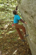 Rock Climbing Photo: Ian coming so close on a perfect fall day.