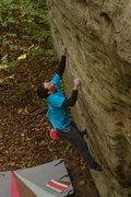 Rock Climbing Photo: On the opening moves this past Saturday.