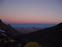 Rock Climbing Photo: Sunset, Camp 1