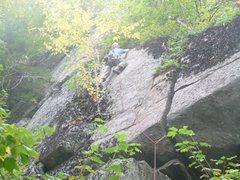 Rock Climbing Photo: First Ascent of Raindance, Michael Gray
