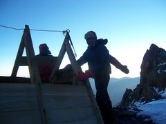 Rock Climbing Photo: Independencia Hut. Toes are COLD!