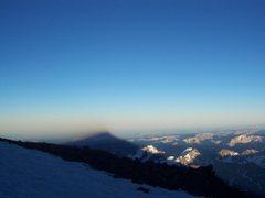 Rock Climbing Photo: summit shadow