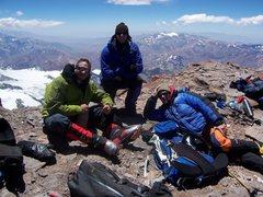 Rock Climbing Photo: Kickin it with the boys on top!