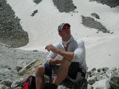 Rock Climbing Photo: Kickin' it before the headwall