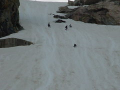 Rock Climbing Photo: Glisading!!