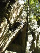 Rock Climbing Photo: Vinny on the FA.