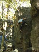 Rock Climbing Photo: Vinny hiking up the feet.