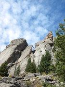 Rock Climbing Photo: Lightning Bolt, Bat Flake, and Batman Pinnacle.