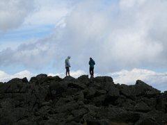 Rock Climbing Photo: Chillin' on the summit.