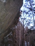 Rock Climbing Photo: Not the best photo but it shows the steepness well...