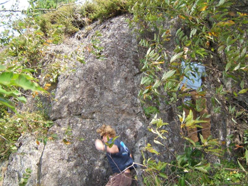 Rock Climbing Photo: Lucas on the dismount