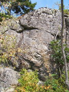 Rock Climbing Photo: Up and to the left is the line of the climb. All m...