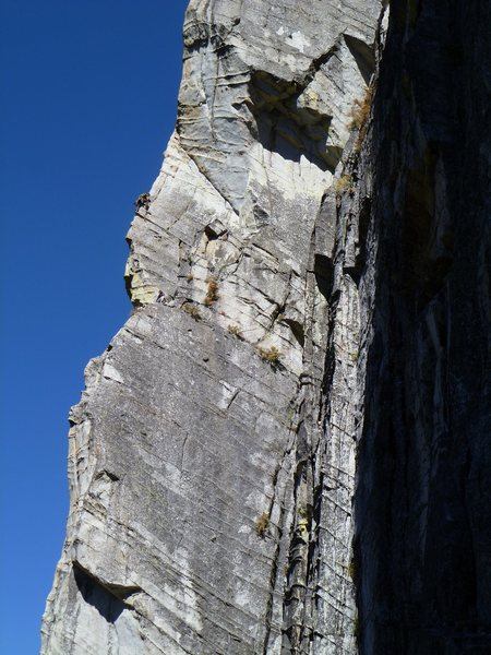 Unknown climbers on the wild and exposed third pitch<br> <br> September 2010<br> <br>