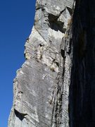 Rock Climbing Photo: Unknown climbers on the wild and exposed third pit...