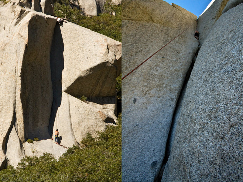 Rock Climbing Photo: Ally Coconis (left) and Danimal (right). Photo by ...