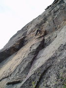 Rock Climbing Photo: Jim Toman on the fourth pitch of Passive-Aggressiv...