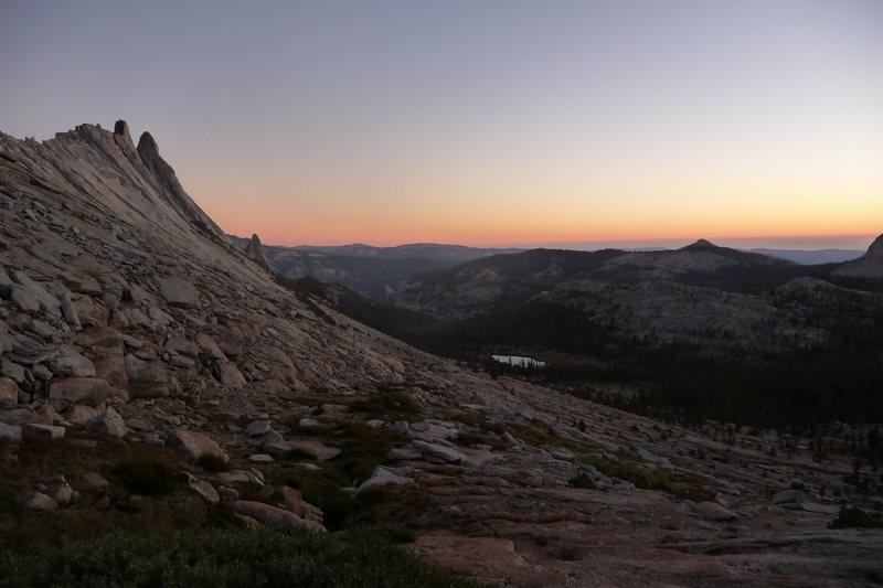 Rock Climbing Photo: Matthes at dusk.