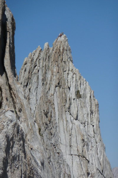 Unknown climbers on the North Summit.