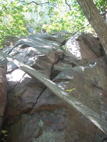 """Rock Climbing Photo: """"Snake Skin"""" climbs the nice crack 5.6"""