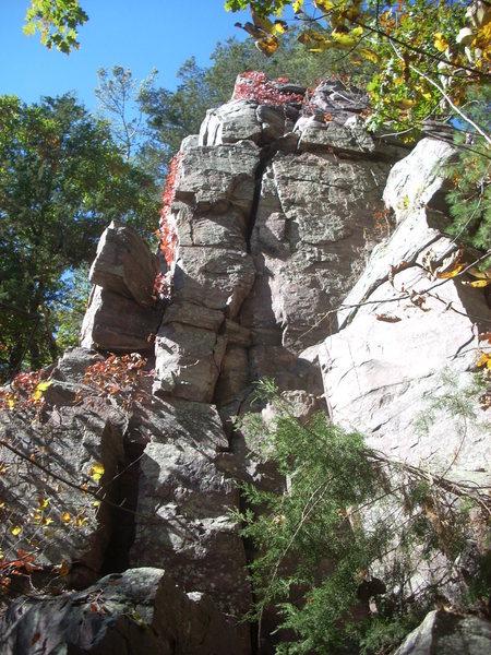 "Rock Climbing Photo: ""Mousehole"" 5.5"