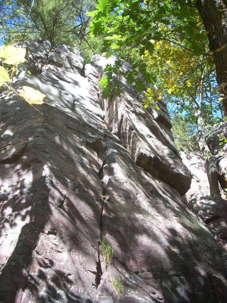 Rock Climbing Photo: This corner is found a few yards west of The Basti...