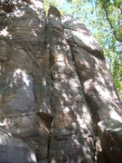 "Rock Climbing Photo: Right crack is ""Budget"" 5.6 left crack i..."