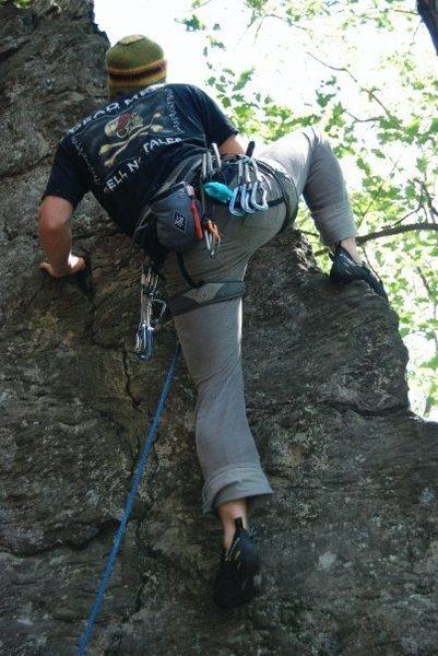 Tim on this easy climb.