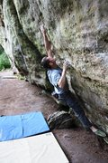 Rock Climbing Photo: Jonny making the powerful locks on Hitchhiker's Di...