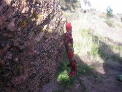 Rock Climbing Photo: Ironman showing off.