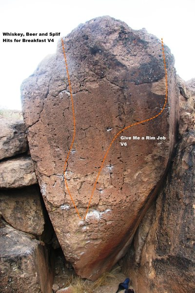 Rim Job Boulder Topo