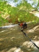 Rock Climbing Photo: Enjoying the tight tips on the Shining